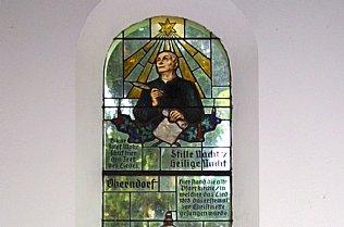 Joseph Mohr, Kirchenfenster Stille Nacht Kapelle © Alexander Gautsch