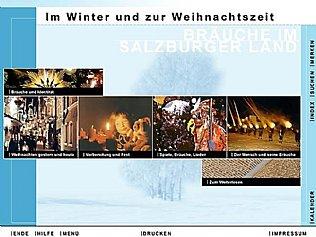 CD-ROM Bräuche im Salzburger Land. Im Winter und zur Weihnachtszeit. © interact!multimedia