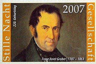 Silent Night Stamp 2007, Franz Xaver Gruber © Stille Nacht Gesellschaft